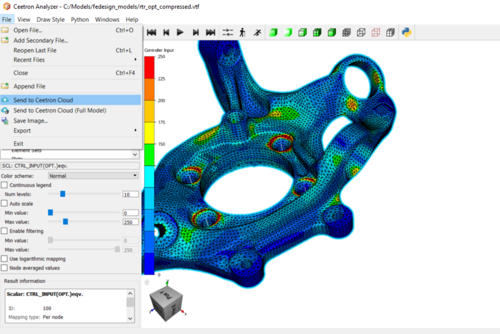 Free 3D viewer | 3D visualization software for CFD and FEA